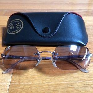 Rimless Rectangular Ray-Ban Sunglasses RB3192